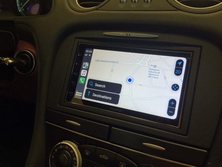 CarPlay navegador en Mercedes SL