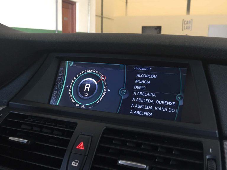 BMW X6 CIC pantalla introducir dirección
